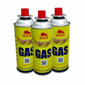 220g-250g butane gas Camping Butane Gas Cylinder for Portable Butane Cooker