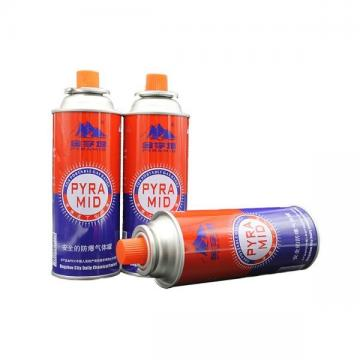 OEM Logo Butane Gas Can with Valve and Cap for camping stove