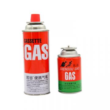 220GR NOZZLE TYPE Tinplate BBQ butane gas cartridge