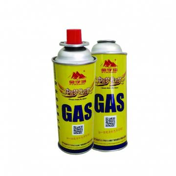 Prime butane gas cartridge and butane gas canister for portable stove