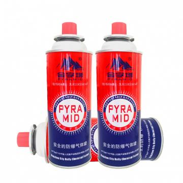 Butane refill fuel 227g Round Shape Portable butane gas cartridge