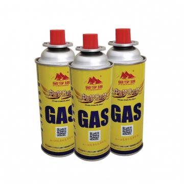High Performance 400ml portable camping butane gas canister manufacturing