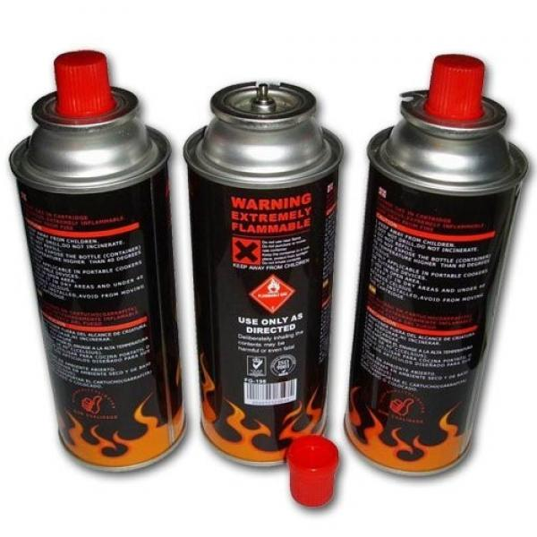 190g 220g 250g Aerosol Can Empty Camping Refill Butane Gas Cartridge Canister #1 image