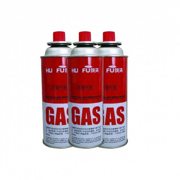 227g Round Shape Portable Bottled Butane Gas can cylinder, 220g #1 image