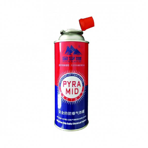 Industrial portable Straight body aerosol tin can for butane gas cartridge 220g #3 image