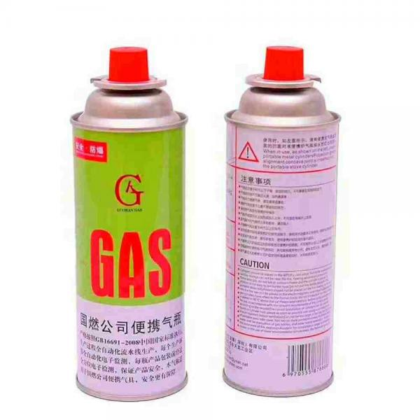 Metal butane gas cartridge camping gas canister for camp stove #1 image